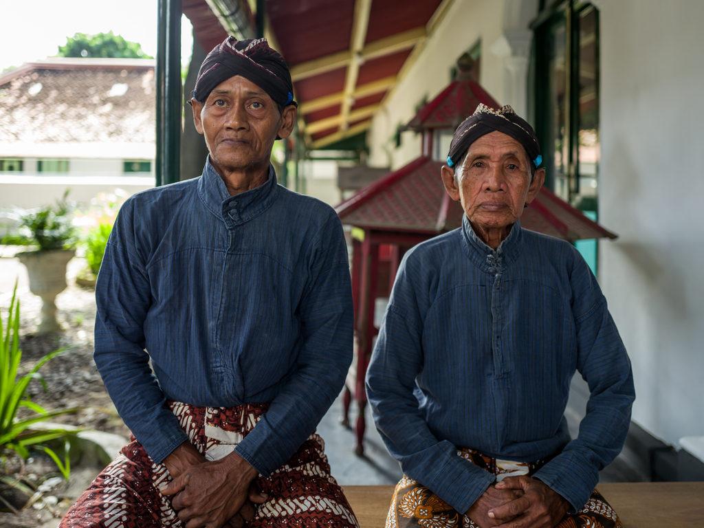 Elderly men at the Kraton